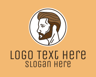 Man Bun - Handsome Man Salon  logo design