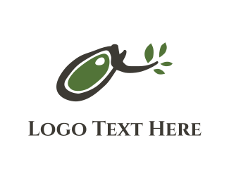 Twig - Abstract Olive Branch logo design