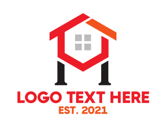 Red Hexagon - Hexagon House H logo design