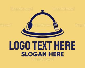 Cloche - Spoon Fork Cloche logo design