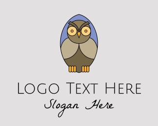 Animal - Nocturnal Owl Bird logo design