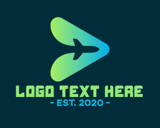 Vloger - Airplane Youtube Travel Vlog logo design