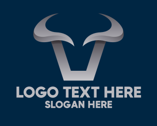 Metallic - Metallic Bull Horns logo design