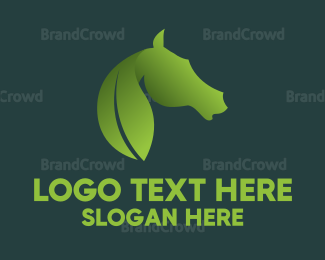 Horse - Leaf & Horse logo design