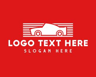 Vehicle - Red & White Automotive Car logo design
