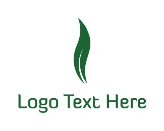 Gas - Green Leaf Flame, logo design