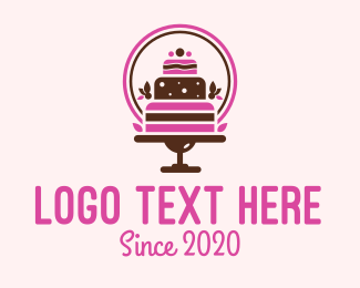 Pink Cake - Birthday Cake Bakery logo design