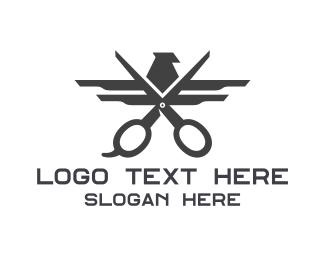 Trim - Black Eagle Scissors logo design