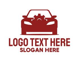 Brand - Red Car Gear logo design