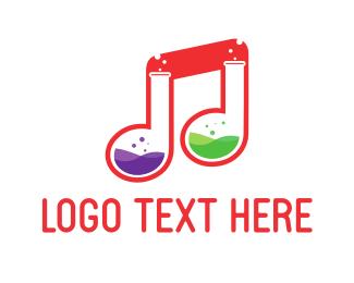 Music Production - Music Lab  logo design