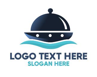 Cruise Ship - Meal Ship logo design