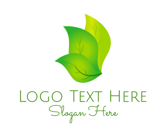 Oxygen - Green Triple Leaf logo design