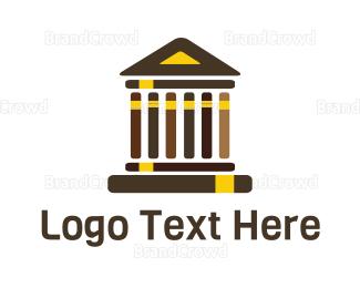 University - Greek Library logo design