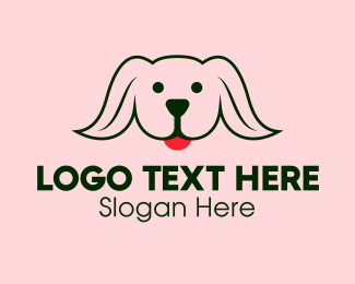 Labrador - Hungry Puppy logo design