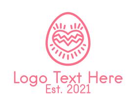 Date - Pink Dating Egg logo design