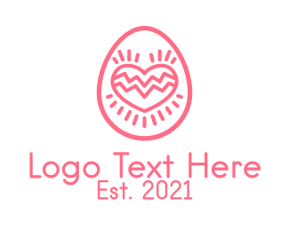 Date - Pink Dating Egg  logo design