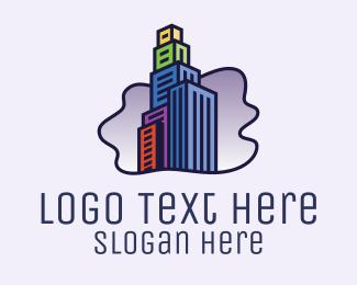 High Rise - High Rise City Building  logo design