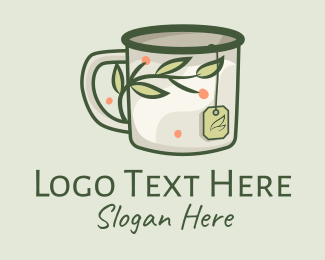 Relaxing - Green Herbal Tea Mug  logo design