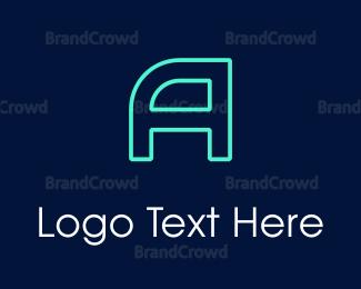 Technological - Neon Gamer logo design