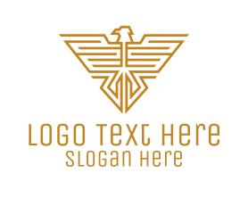 Authority - Golden Eagle Insignia logo design