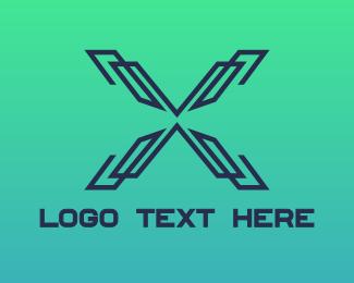 Modern - Modern Lines X logo design