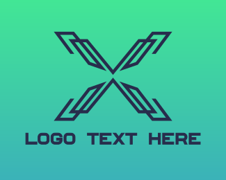 Lines - Modern Lines X logo design