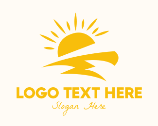 Daylight - Yellow Sun Thunder logo design