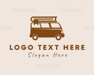 Van - Book van logo design