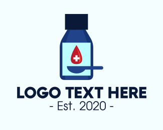 Vaccination - Blue Medication Drug Container logo design