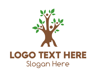 Human Resource - Tree Team logo design
