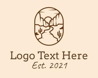 Canyon - Desert Canyon Travel logo design
