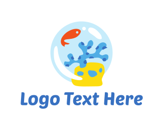 Fishbowl - Marine Bubble logo design