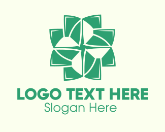 Ayurvedic - Organic Cross Leaves logo design