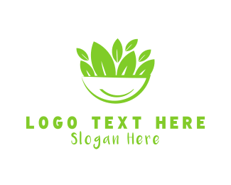 Green Bowl - Salad Bowl logo design