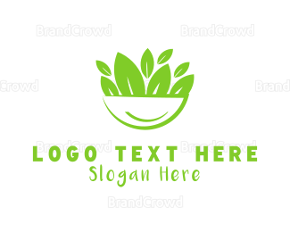 Organic Food - Salad Bowl logo design