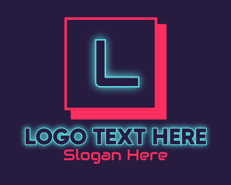 Cyber Cafe - Neon Glowing DJ Gaming Letter logo design