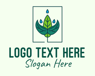 Water Droplet - Plant Watering logo design