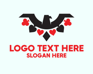 Playing Cards - Poker Eagle logo design