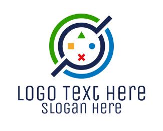 Remote - Colorful Circle Controller  logo design