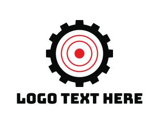 Archer - Cog Target logo design