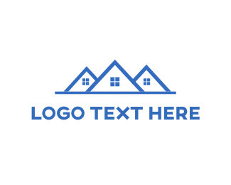Cleaning - Blue Houses logo design