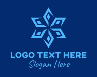 Snowflake - Star Snowflake logo design