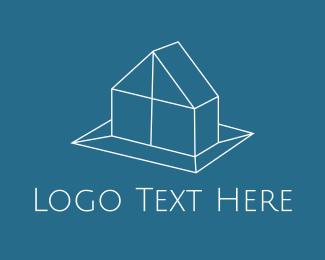 Cottage - Geometric House Real Estate logo design