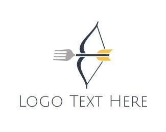 Archer - Fork Shooting logo design