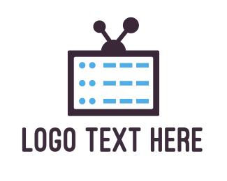 Movies - Media Server logo design