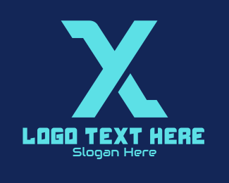 Cyberspace - Esports Gaming Letter X logo design