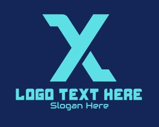 Web Hosting - Esports Gaming Letter X logo design