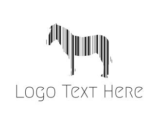 Shop - Zebra  Barcode logo design