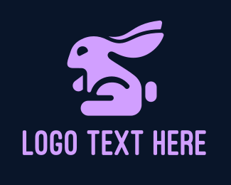 Rabbit - Purple Rabbit logo design