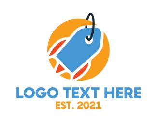 Space - Label Space Rocket logo design
